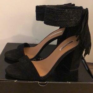 Shoes - New BCBG Suede Fringe Sandal